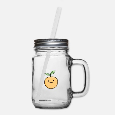 Orange Cute Orange - Mason Jar