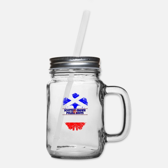 Polish Mugs & Drinkware - Polish roots - Mason Jar clear