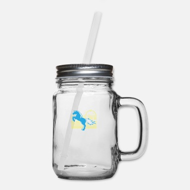Tent Horse Heartbeat - Nature Lover Gift - Mason Jar