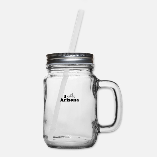 Sports Mugs & Drinkware - arizona biking - Mason Jar clear