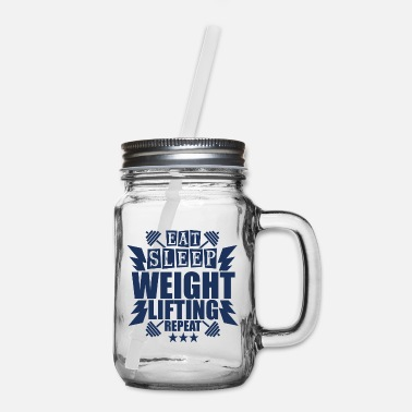 Weightlifting Weightlifting Weightlifting Weightlifting - Mason Jar