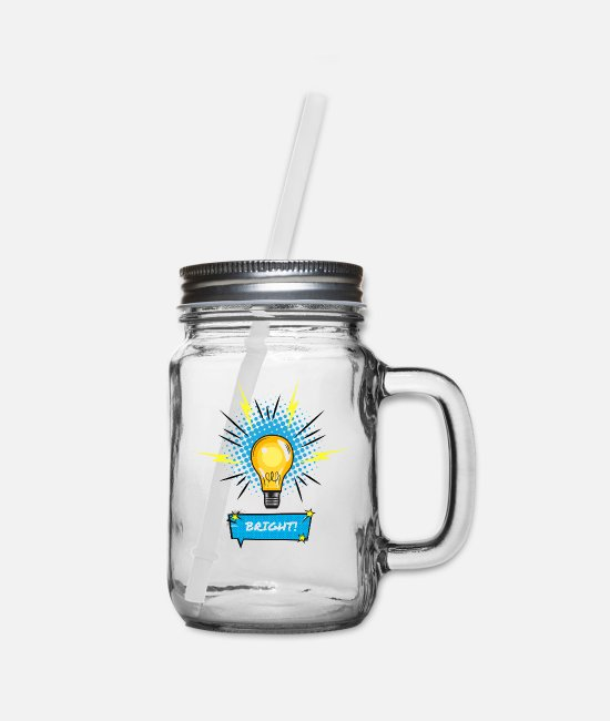 Quote Mugs & Cups - Bright / Brillant - Mason Jar clear