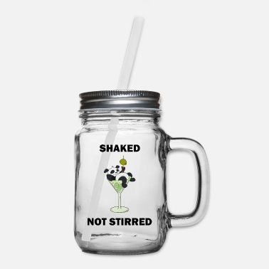 Band Shakes Not Stirred - Funny Panda - Mason Jar