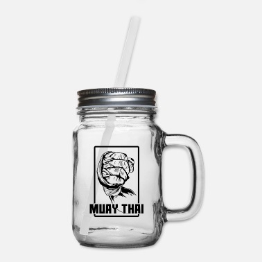 Punch Muay Thai Fist - Mason Jar