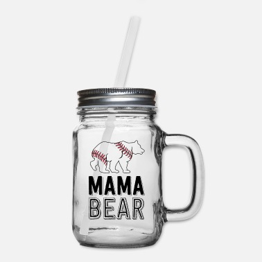 Big Mama Bear Mom Baseball Shirts For Women Softball - Mason Jar
