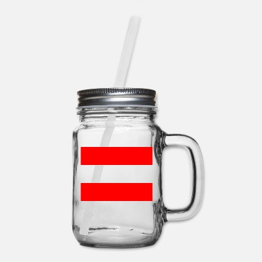 Schland National flag of Austria - Mason Jar