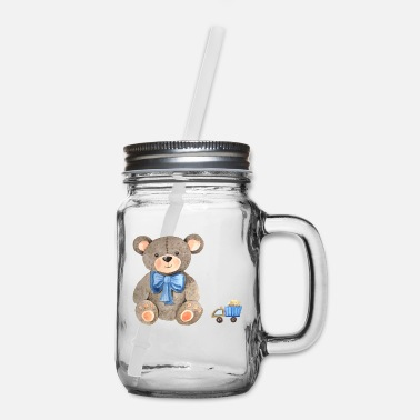 Teddy Bear teddy bear - Mason Jar