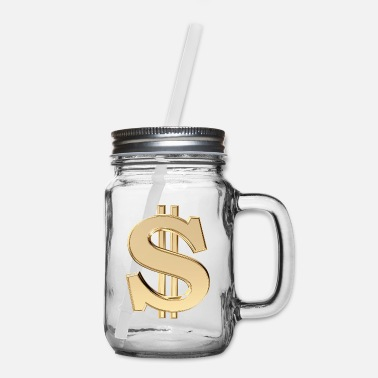 Dollar 3D dollar sign - Mason Jar