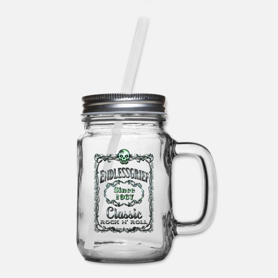 Page Mugs & Drinkware - ENDLESSGRIEF LABEL - Mason Jar clear