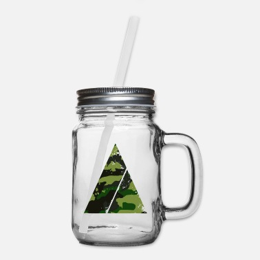Trending Triangle camouflage pattern with horizontal stripe - Mason Jar