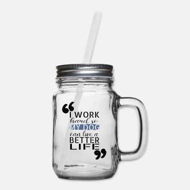 Rescue dog friendly funny sayings canids rescue paw - Mason Jar