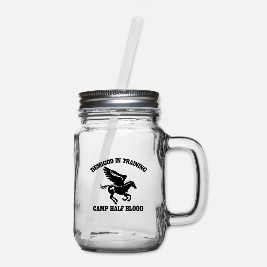 Jackson Mugs & Drinkware - Half blood - Mason Jar clear