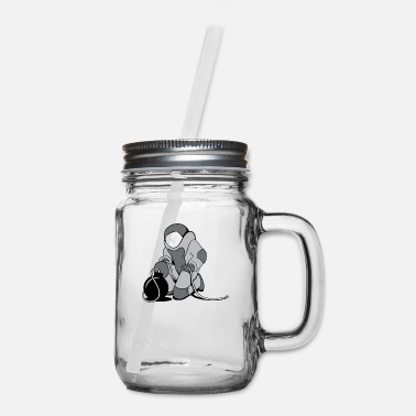 Bomb Cartoon Bomb Squad - Mason Jar