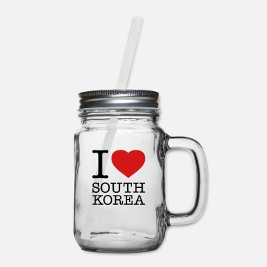 Tae Kwon Do I LOVE SOUTH KOREA - Mason Jar