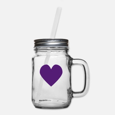 Series 1.0: Heart (violet) - Mason Jar