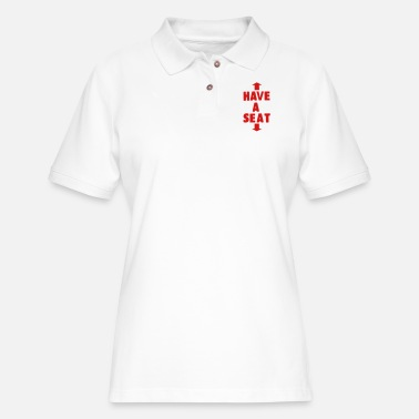Seat HAVE A SEAT - Women's Pique Polo Shirt