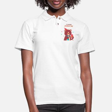 Doodle Its Quarantine Birthday Time - Women's Pique Polo Shirt