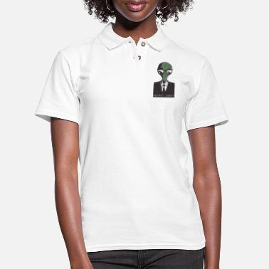 Secret Agent Alien Secret Agent - Women's Pique Polo Shirt