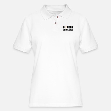 Cream Filled Doughs Before Bros - Women's Pique Polo Shirt