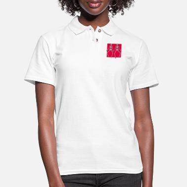 let s dance zwei black usa - Women's Pique Polo Shirt