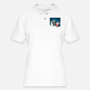 Lighting Red Noses - Women's Pique Polo Shirt