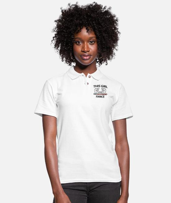 Engagement Polo Shirts - This Girl Loves Her Fiance - Women's Pique Polo Shirt white