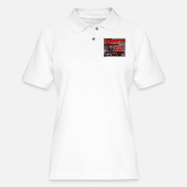 Dent Dominate Obliterate and Dent - Women's Pique Polo Shirt