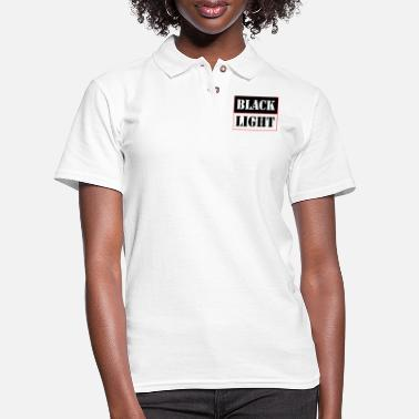 Black Light Black light red - Women's Pique Polo Shirt