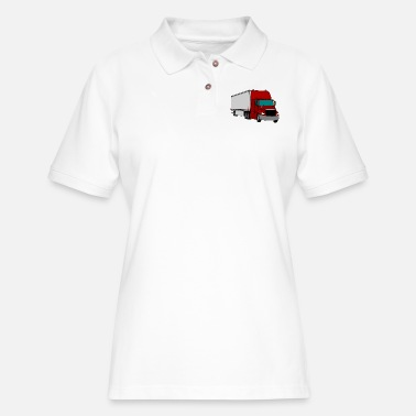 Tractor Trailer tractor trailer - Women's Pique Polo Shirt