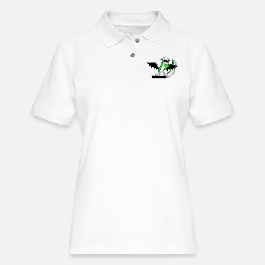 Evil cool dj music party celebrate mixing desk hang up - Women's Pique Polo Shirt