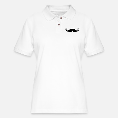 Moustache moustache - Women's Pique Polo Shirt