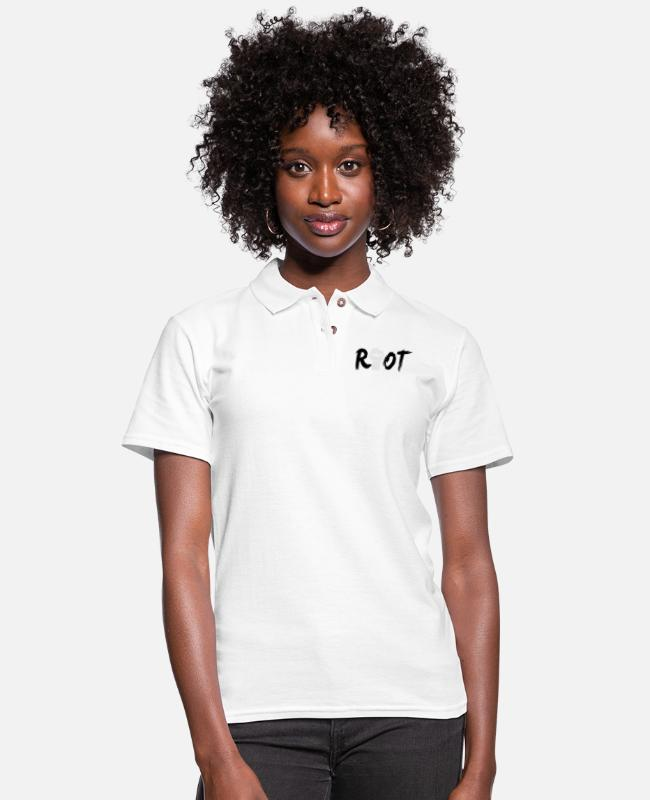 Masha Katya Naya Polo Shirts - riot - Women's Pique Polo Shirt white