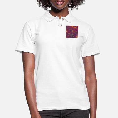 Security Rainbow valley wall fractal trippy wall arts - Women's Pique Polo Shirt
