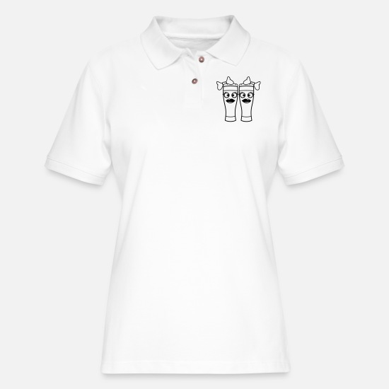 Alcohol Polo Shirts - 2 friends team couple couple sisters twins madame - Women's Pique Polo Shirt white
