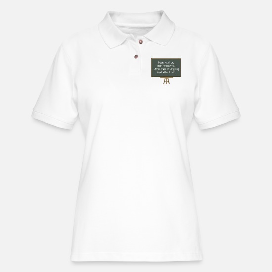 Sayings Polo Shirts - Dear Teacher - Women's Pique Polo Shirt white
