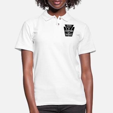 City Of Champions City of Champions - Black - Women's Pique Polo Shirt