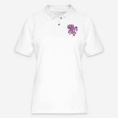 For Octopus Lovers Amorous Octopus - Women's Pique Polo Shirt