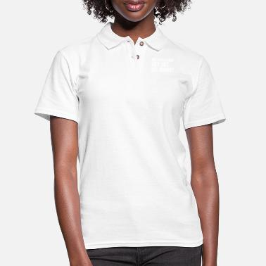 Set On Your Mark, Get Set, Go Away Adult Funny - Women's Pique Polo Shirt