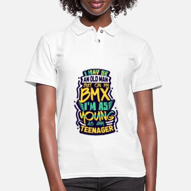 Bmx Grandfather BMX Old Man - Women's Pique Polo Shirt
