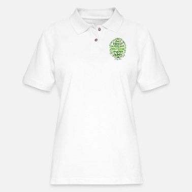 Dark Humor Cynical Humor Signature green dark - Women's Pique Polo Shirt