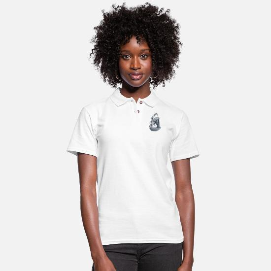 Shark Polo Shirts - THE SHARK - Women's Pique Polo Shirt white