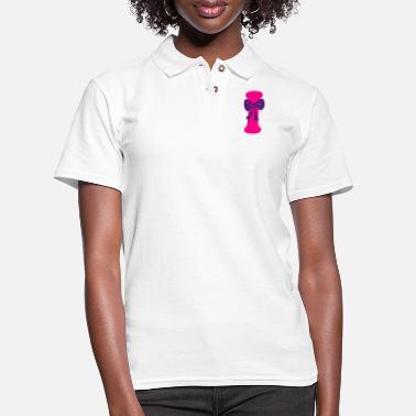 Hepatitis B-liver Cancer-hbv-breast Cancer ❤✔Alphabet I with a Purple Ribbon✔❤ - Women's Pique Polo Shirt