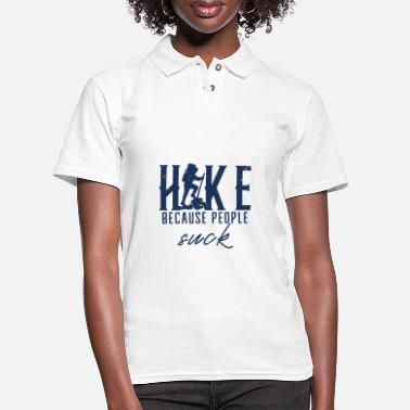 Hiking Hiking Hiking Hiking Hiking - Women's Pique Polo Shirt