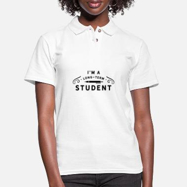 Uni I'm a long term student - Women's Pique Polo Shirt
