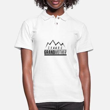 Grandmother Skiing Grandmother - Women's Pique Polo Shirt