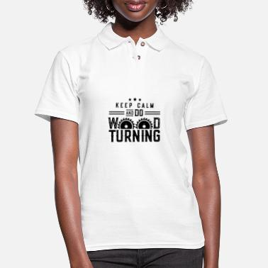 Turn Woodturning Turn Timber Wood Turning - Women's Pique Polo Shirt