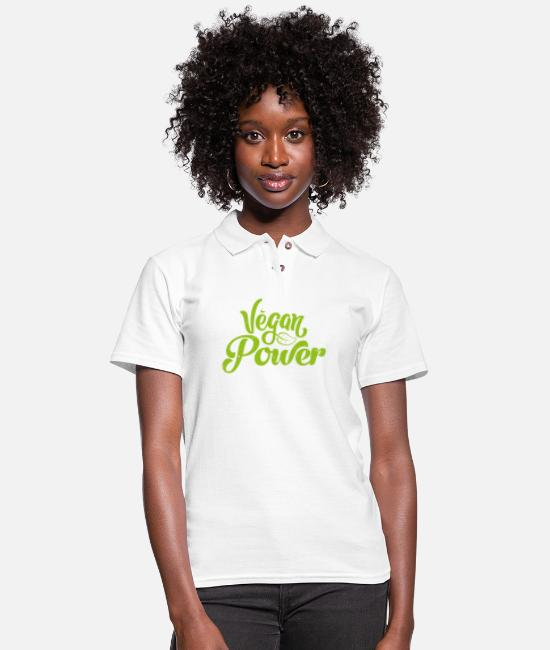 Fans Polo Shirts - Vegan power Natural Gift Plant - Women's Pique Polo Shirt white