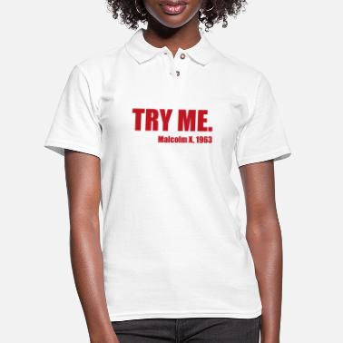 Bodybuilding Try me gift fitness gym sport - Women's Pique Polo Shirt