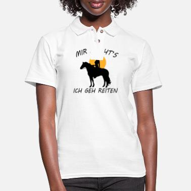 Dressage Riding gift horse sport hobby dressage - Women's Pique Polo Shirt