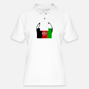 Falg of Afghanistan - Women's Pique Polo Shirt